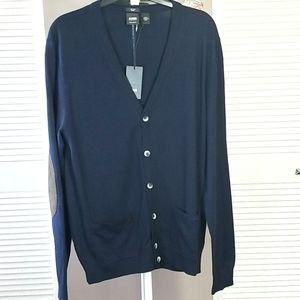 Navy Hugo Boss Button Up Cardigan